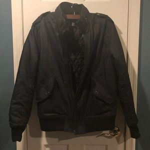 💕🖤Men's H&M Faux Denim Bomber Jacket🖤💕